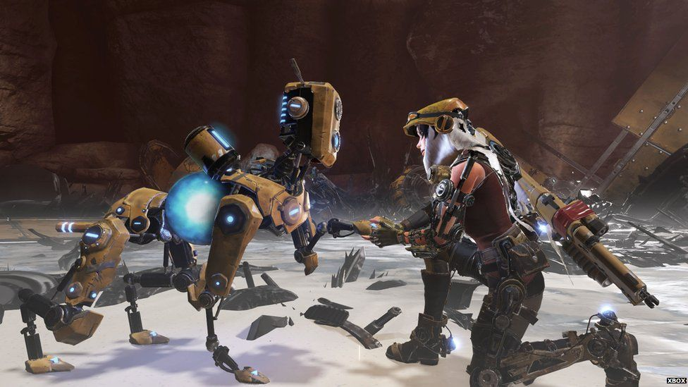 Gameplay footage of ReCore