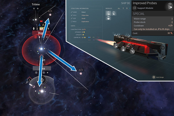 Sending ships and probes into various parts of the galaxy is very useful in the beginning of the game. Remember to install better probe modules or have more of them. - Exploration and Curiosities in Endless Space 2 - Gameplay basics - Endless Space 2 Game Guide