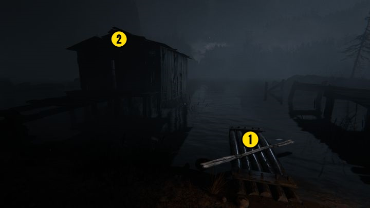 Read it, go down and enter the second building near the campfire, there you can find bandages if you need some - The Lake | Lamentations | Walkthrough - Lamentations - Outlast 2 Game Guide
