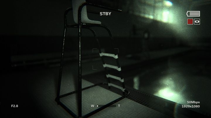 The stage starts with you under the water in the pool - Raining Blood | Lamentations | Walkthrough - Lamentations - Outlast 2 Game Guide