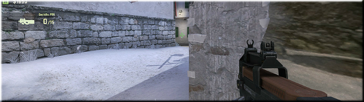 Proceed forward from the spawn area to find a small wall that is also a vantage point for the pathway often used by your enemies - Mission 1 Austria - Missions - Counter-Strike: Global Offensive Game Guide