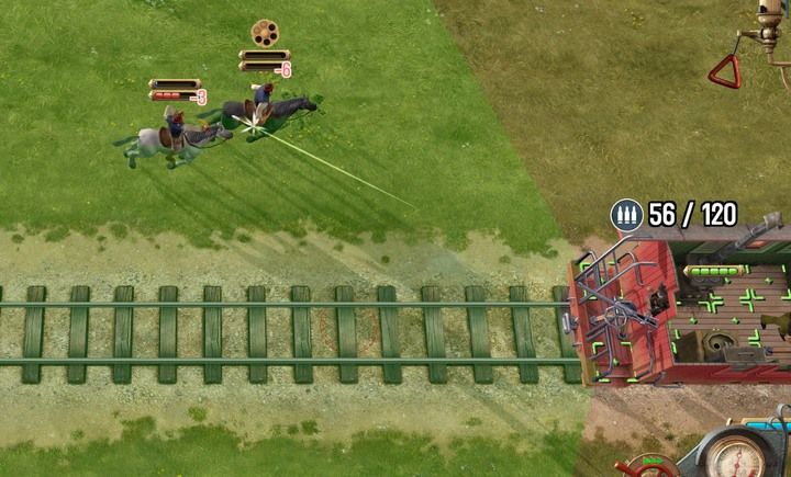 A turret in a back carriage can help you greatly when you want to escape - How to get Williams/Gatling gun? | Hints - Hints - Bounty Train Game Guide