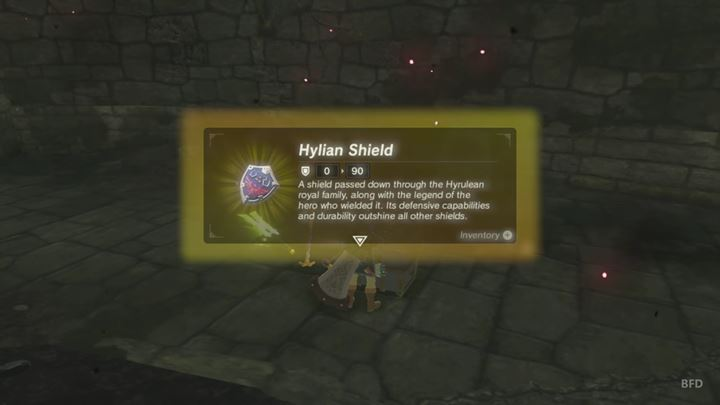 After the fight, you can take the shield from the chest - How to get Hylian Shield? | FAQ - FAQ - Frequently asked questions - The Legend of Zelda: Breath of the Wild Game Guide