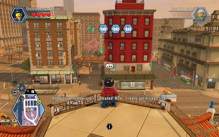 Use the police device to make photos of the mobsters, using zoom. - Eavesdropping on the gang | Walkthrough - Chapter 6 - LEGO City: Undercover Game Guide