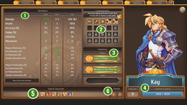 1 - The character tab and most important stats - Gameplay Basics - Regalia: Of Man and Monarchs Game Guide