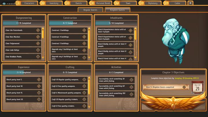 AbIn order to finish a chapter, you have to complete five kingdom quests from any chosen tab. - Regular and kingdom quests - City Management - Regalia: Of Man and Monarchs Game Guide