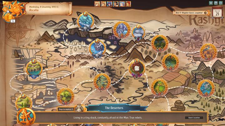 In order to finish the quest, go to the location with the exclamation mark and engage in the special event. - Regular and kingdom quests - City Management - Regalia: Of Man and Monarchs Game Guide