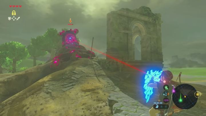 You can deflect the Guardians laser by using the shield. - How to fight Guardians in Zelda: Breath of the Wild? - FAQ - Frequently asked questions - The Legend of Zelda: Breath of the Wild Game Guide