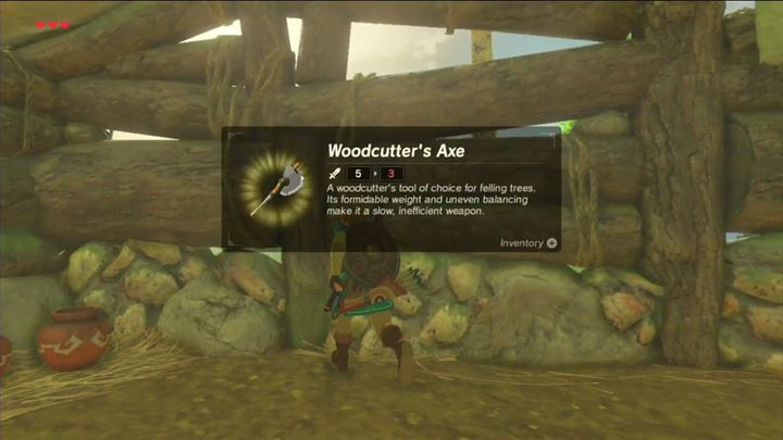 It is mandatory to have certain items in your equipment. - How to acquire the axe, hammer and leaf in Zelda: Breath of the Wild? - FAQ - Frequently asked questions - The Legend of Zelda: Breath of the Wild Game Guide