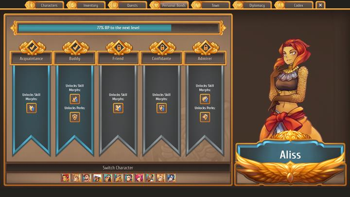 By spending time with others, you develop relations and gain access to new skills. - General advice - Gameplay Basics - Regalia: Of Man and Monarchs Game Guide