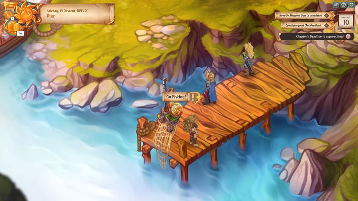 Upgrading the pier enables you to fish there, yielding new equipment. - General advice - Gameplay Basics - Regalia: Of Man and Monarchs Game Guide