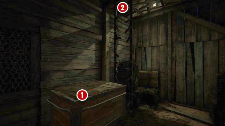 There is a broken ladder and a box [1] in front of you - The Crash | Genesis | Walkthrough - Genesis - Outlast 2 Game Guide