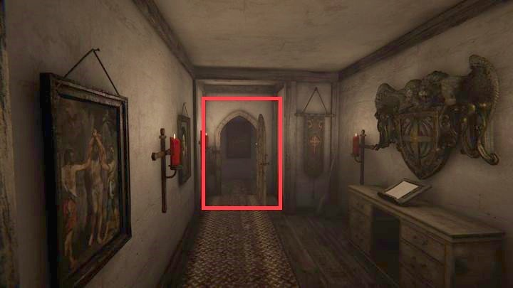 The further path leads through the door on the right that you have to unbolt first - The Compound | Genesis | Walkthrough - Genesis - Outlast 2 Game Guide