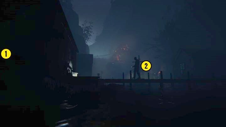 In this case, remember that you can hide under the water surface - The Compound | Genesis | Walkthrough - Genesis - Outlast 2 Game Guide