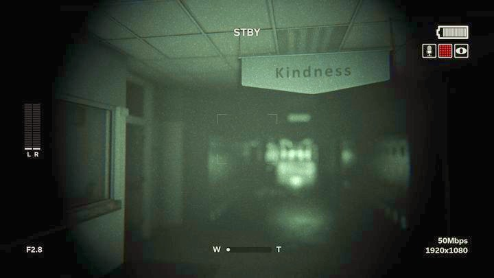 A second later, a person will appear far away in front of you - Saint Sybil School | Genesis | Walkthrough - Genesis - Outlast 2 Game Guide