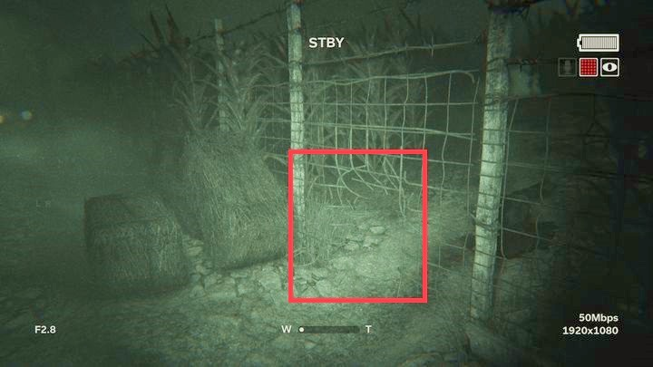 Use the hole in the fence marked in the picture - The Fields | Genesis | Walkthrough - Genesis - Outlast 2 Game Guide