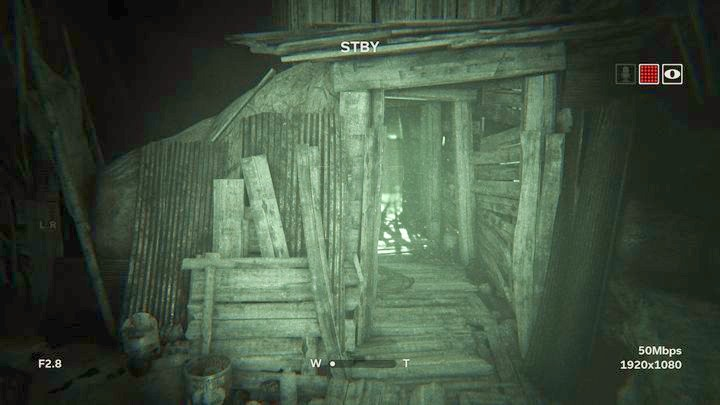 In the next location, jump down and move towards the open door - Temple Gate Town Square | Genesis | Walkthrough - Genesis - Outlast 2 Game Guide