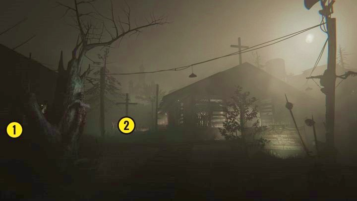 Youll arrive at the location above - Temple Gate Town Square | Genesis | Walkthrough - Genesis - Outlast 2 Game Guide