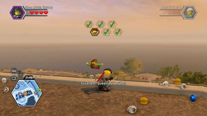 You can throw the enemies off the roof, which is much faster than cuffing them - Save Blackwell | Walkthrough - Chapter 8 - LEGO City: Undercover Game Guide