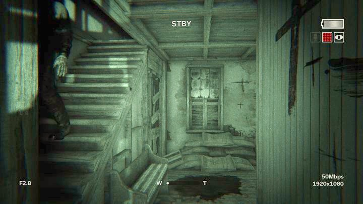 You are struck several times and fall from the stairs - The Chapel | Genesis | Walkthrough - Genesis - Outlast 2 Game Guide