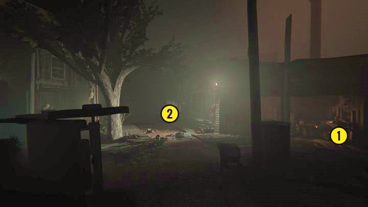 Walk around the praying woman and, moving along the chapels wall, reach the place visible in the picture - The Chapel | Genesis | Walkthrough - Genesis - Outlast 2 Game Guide
