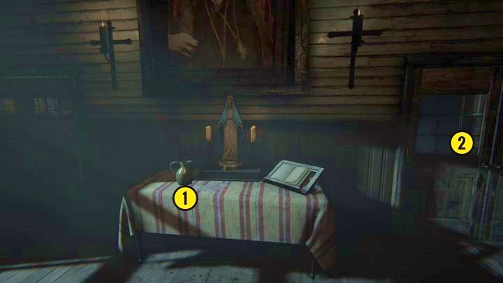 Inside, you will see a small table - The Chapel | Genesis | Walkthrough - Genesis - Outlast 2 Game Guide