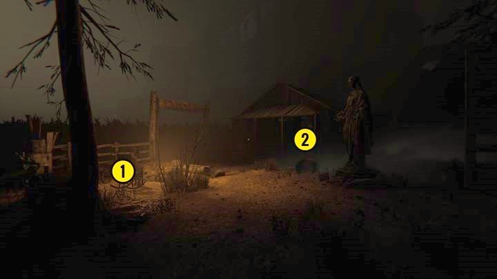 In the room to the side, there is a note (Gnoths Gospel Chapter 2 - The Road to the Mine | Genesis | Walkthrough - Genesis - Outlast 2 Game Guide