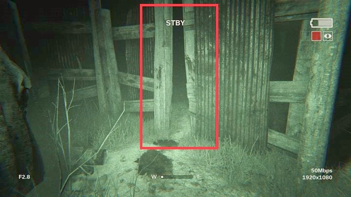 In the cowshed, you will learn that you need a hook - The Road to the Mine | Genesis | Walkthrough - Genesis - Outlast 2 Game Guide