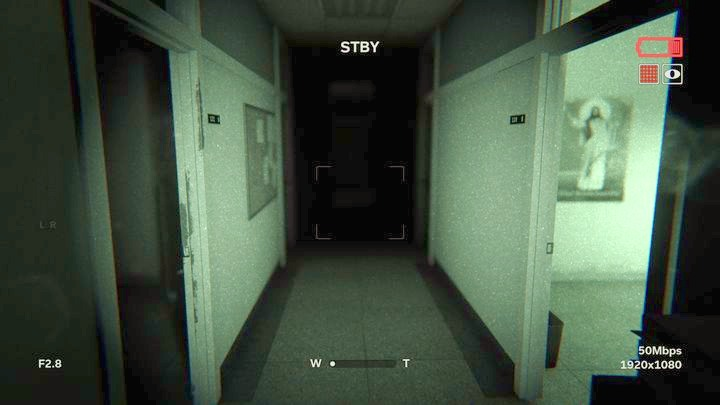 Move towards the toilet and turn right - St. Sybil Administration | Job | Walkthrough - Job - Outlast 2 Game Guide