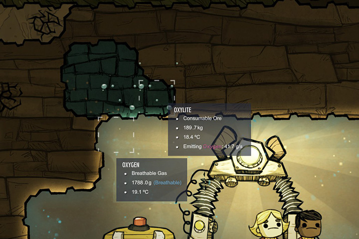 Oxylite is your starting source of oxygen. - Which resources/materials are necessary? - The Beginning - Oxygen Not Included Game Guide