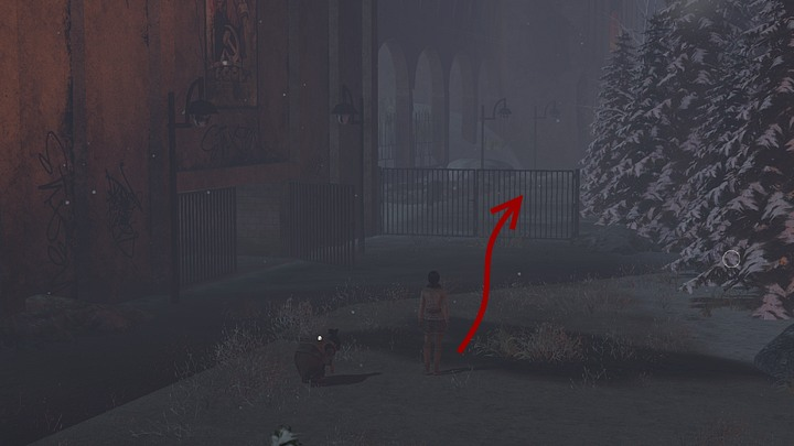 Instead, take to the closed gate right next to the place (as shown above) - right before it, on the right, is another gate, but for now, dont bother going there - Find the clues left by the previous caravan - Chapter seven - Syberia 3 Game Guide