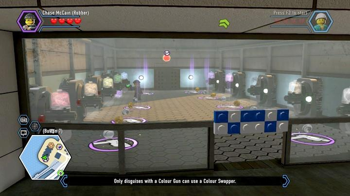 You can access many swapper colors here - this location can also be useful furing free play - Museum burglary | Walkthrough - Chapter 10 - LEGO City: Undercover Game Guide
