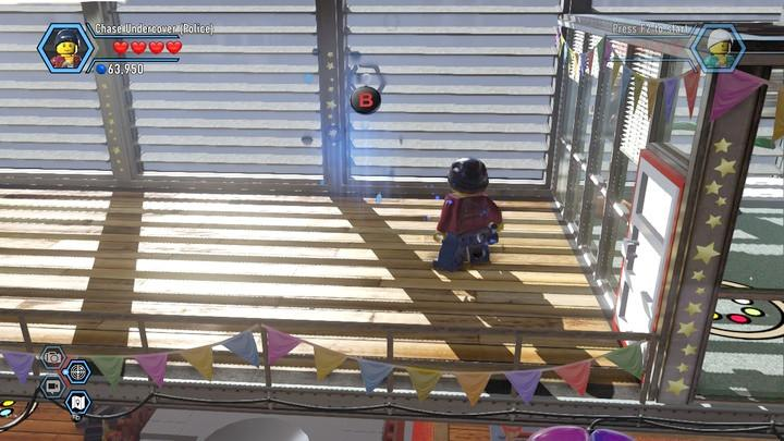 The location where you start to scan footprints - Fireman training | Walkthrough - Chapter 10 - LEGO City: Undercover Game Guide