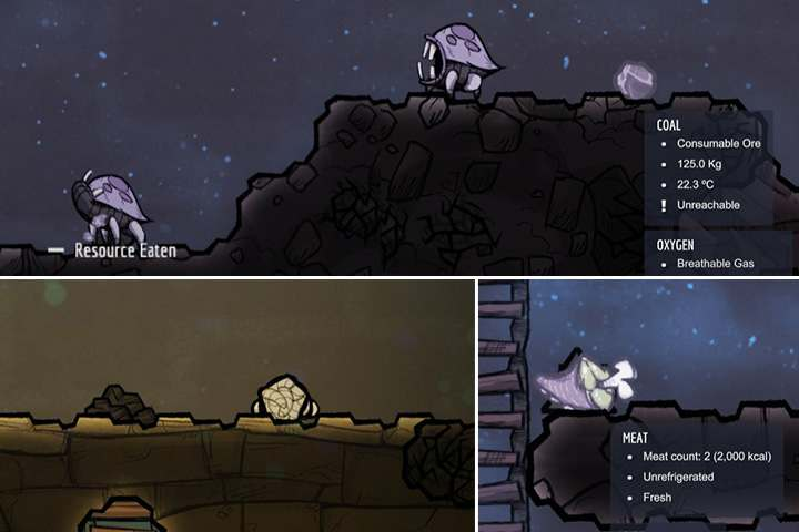 Hatch is a nocturnal animal, which looks like a predator, but is not aggressive - Hatch - Creatures - Small Animals - Oxygen Not Included Game Guide
