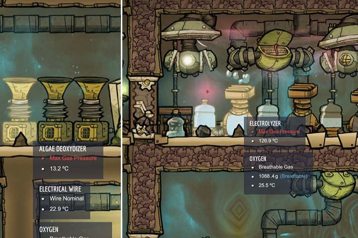 Maintaining the right level of oxygen is one of the most important factors in the game - Oxygen - Description of objects and structures - Oxygen Not Included Game Guide