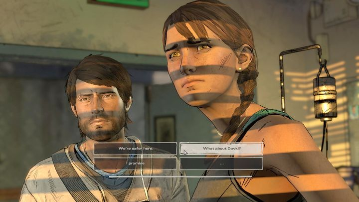 After a short walk around the town, you will finally meet Kate in the hospital - Chapter 2 - Building for Tomorrow | Episode 3 - Episode 3: Above the Law - The Walking Dead: The Telltale Series - A New Frontier Game Guide