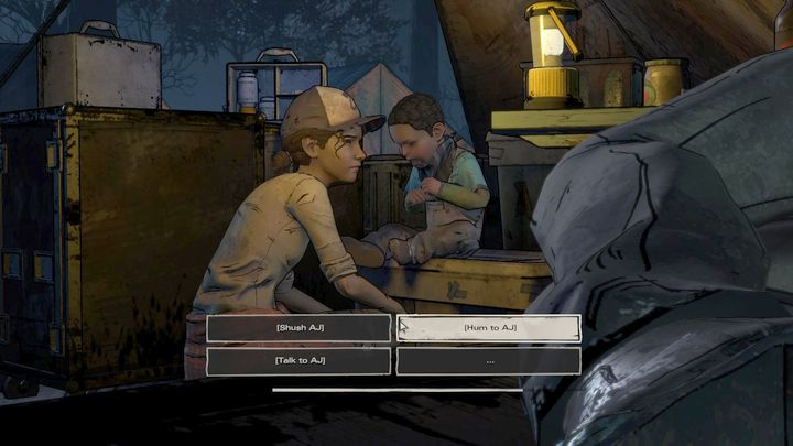 Eliminate the walkers and you will play as Clem, who will have to make another difficult choice - Chapter 4 - Divine Intervention   Episode 3 - Episode 3: Above the Law - The Walking Dead: The Telltale Series - A New Frontier Game Guide