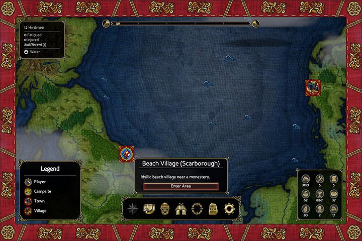 World map. - Navigating the world map and camping - The Basics - Expeditions: Viking Game Guide