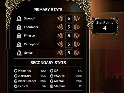 Primary stats affect secondary stats - Character creation and statistics - The Basics - Expeditions: Viking Game Guide