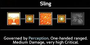 Sling (6/9/12/15/18) - Wielding weapons - Abilities - Expeditions: Viking Game Guide