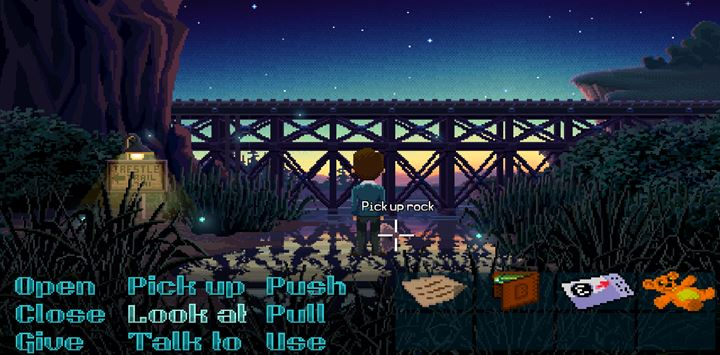 Pick up the rock and use it to break the lamp. - Part 1 - The meeting / Part 2 - The Body | Walkthrough - Walkthrough - Thimbleweed Park Game Guide