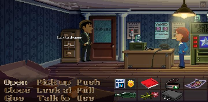 Search sheriffs and coroners rooms very thoroughly. - Part 1 - The meeting / Part 2 - The Body | Walkthrough - Walkthrough - Thimbleweed Park Game Guide