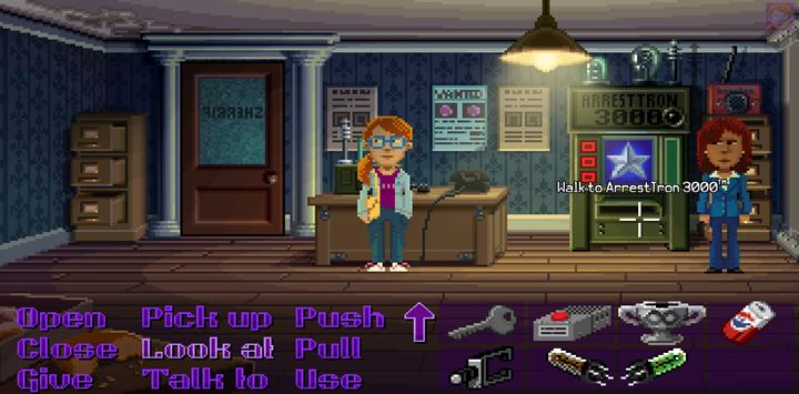 Use the tube on the machine to create a crime report. - Part 3 - The Arrest | Walkthrough - Walkthrough - Thimbleweed Park Game Guide