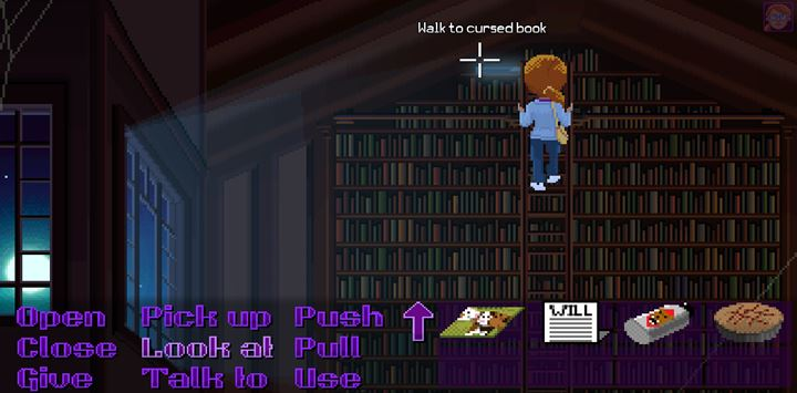 Take the cursed book. - Part 4 - The Will / Part 5 - The Reading | Walkthrough - Walkthrough - Thimbleweed Park Game Guide