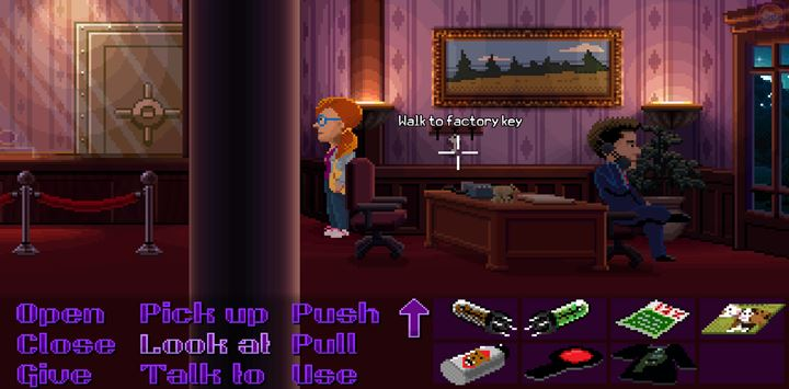 Make a distraction by calling the banker as Franklin. - Part 6 - The Factory | Walkthrough - Walkthrough - Thimbleweed Park Game Guide