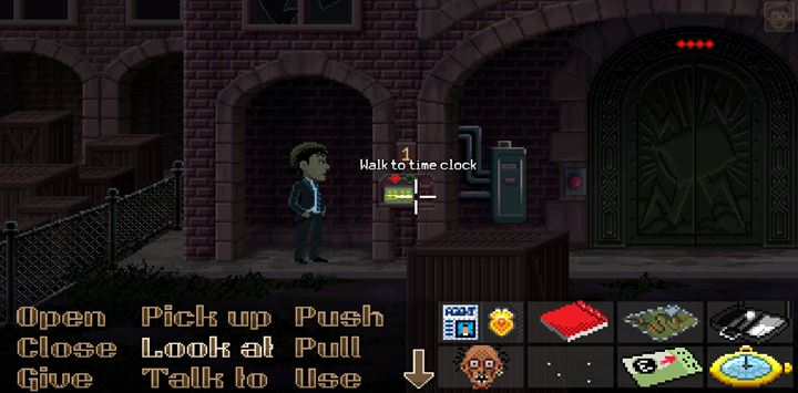 Use the fixed watch on the panels. - Part 6 - The Factory | Walkthrough - Walkthrough - Thimbleweed Park Game Guide