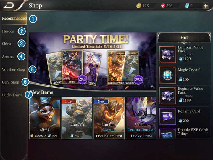 1 - Shop and currencies in Strike of Kings - Game Guide - Strike of Kings Game Guide