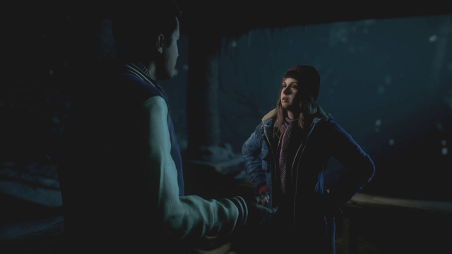 Ashley talking with Matt - encourage to watch or convince the friend to not watch the uncomfortable situation - Episode 1 | Walkthrough - Walkthrough - Until Dawn Game Guide & Walkthrough