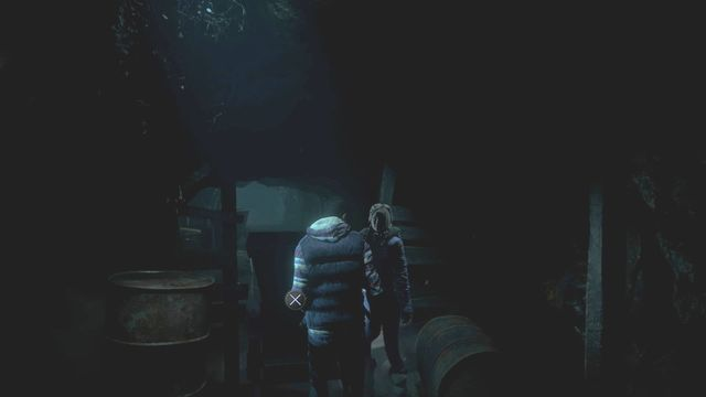 In the mine, together with Jess push the cart in order to unlock the passage - Episode 2 | Walkthrough - Walkthrough - Until Dawn Game Guide & Walkthrough