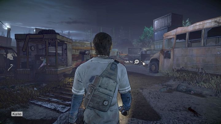 Your next task will be to search the area, looking for various useful things, especially gas - Chapter 2 - Unexpected Guests | Episode 1 - Episode 1: Ties that Bind - Part 1 - The Walking Dead: The Telltale Series - A New Frontier Game Guide